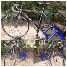 Carbon Fibre Felt 26 inch bike with bike trainer included