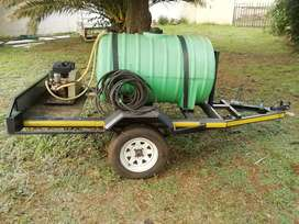 Fire fighting trailer 500 Litre for plot or small farm.