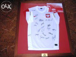 koszulka Reprezentacji POLSKI z autografami piłka nożna piwiarnia piwo