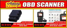 OBD Scanners with wifi and bluetooth. On-board diagnostics, self-diagn