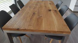 Stół dębowy lite drewno naturalny ze sękami na wymiar