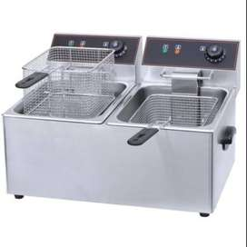 6+6Ltr Double Chips Gas Fryer