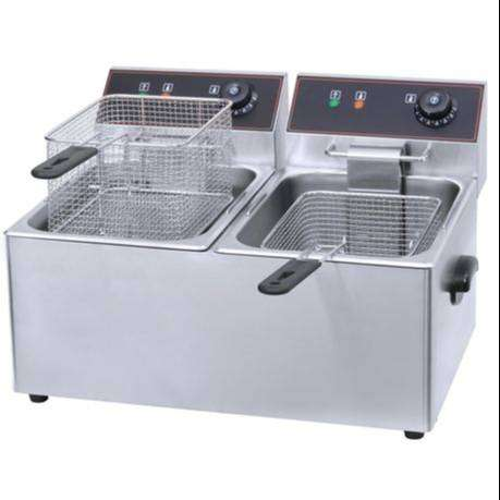 6+6Ltr Double Chips Gas Fryer 0