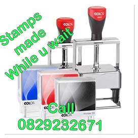 Rubber Stamps Made While u Wait