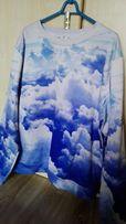 Bluza w chmury fullprint Uniseks rozmiar XL