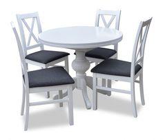NOWOŚĆ! Stół Okrągły Rozkładany + 4 Krzesła! BOGATA KOLORYSTYKA! HIT