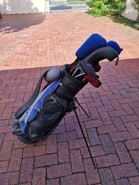 Full golf bag and clubs