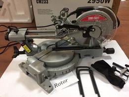 Пила торцовочная торцевая торцовка Euro Craft 255mm/2950W с протяжкой