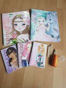 Top Model Colouring/Drawing Books