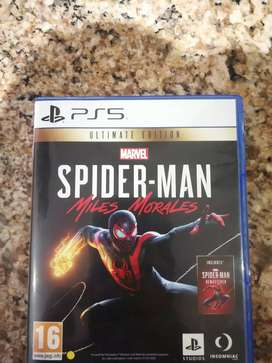 Spider- Man miles morales, ps5, preorder edition with limited cover.