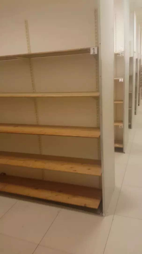 Wall mounted shelving with pine wood