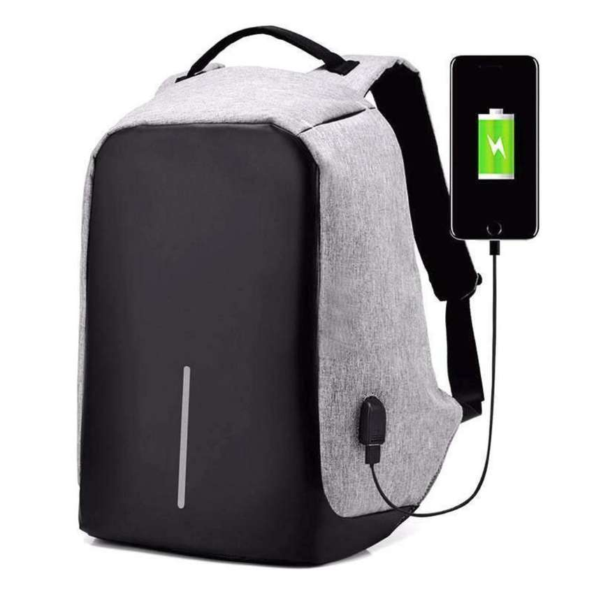 Anti Theft Backpack with USB Charger 0