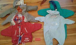 Kurtki, kombinezony czapki, szaliki, rękawiczki rozmiar 68-74