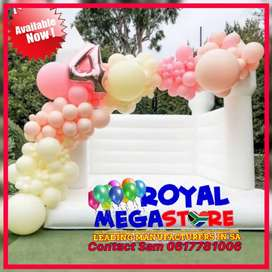 White Stretch Frame Tents Jumping Castles Mobile Vip Toilets Freezers