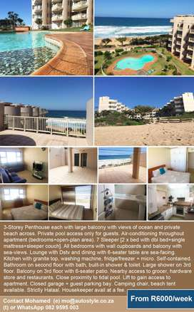 Halaal friendly accomodation KZN, self contained 3 storey penthouse U