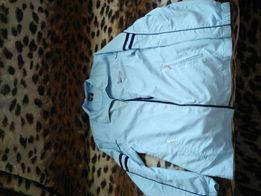 Куртка ветровка Back Swing голубого цвета размер 14