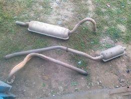 Приемная труба (штаны,резонатор,глушитель,бензобак,суппорт ВАЗ 2101-07