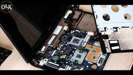 Чистка обслуживание ноутбуков ПК сборка настройка, компьютерная помощь