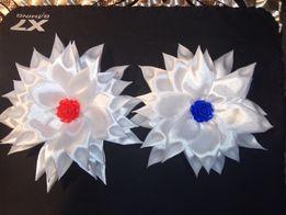 Заколки, резинки, цветочки из атласной ленты ручная работа