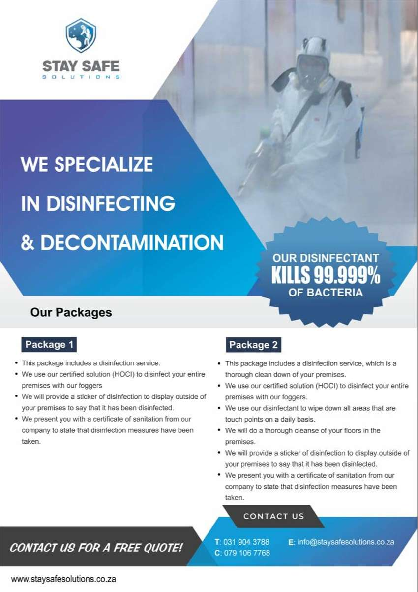 Disinfection and Decontamination 0