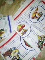 Новое льняное кухонное полотенце 4 шт