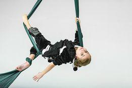 Выступление воздушных гимнастов и акробатов.