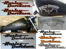 Harley tank decals / spray paint stencils