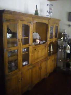 Antique display unit for sale solid wood