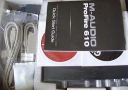 M-Audio ProFire 610 звуковая карта + наушники