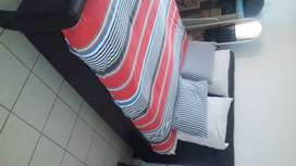 Queen slay bed and mattress for sale