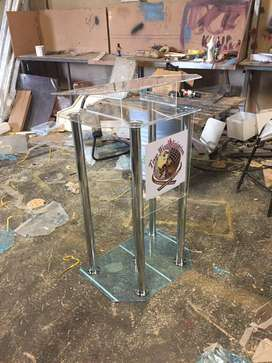 Steel poles pulpits