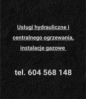 Usługi hydrauliczne i c.o., instalacje gazowe; czyste powietrze