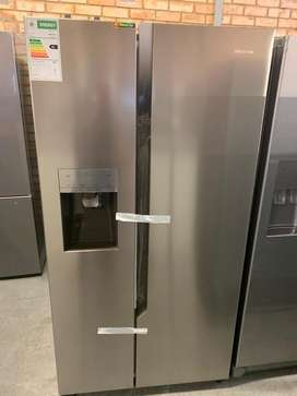 Hisense with water & ice maker double door fridge