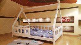 Łóżko domek drewniane dla dzieci TIPI Sklep Barierki
