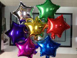 Шарики фольгированные звездочки шары из фольги звезды кульки