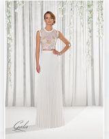 Suknia ślubna, gala urgia, plisowana kolekcja 2017