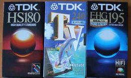Sprzedam używane kasety wideo VHS