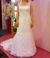 Suknia ślubna od Violi Piekut hiszpańskiej koronki