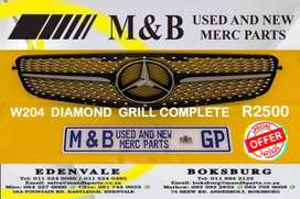 MERCEDES BENZ W204 DIAMOND GRILL COMPLETE ON SPECIAL