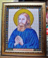 Икона бисером, имена картина Виталий, на подарок