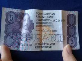 Old south african bank notes Mozambique