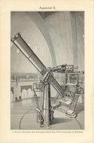 ASTRONOMIA - TELESKOPY oryginalne XIX w. grafiki do wystroju
