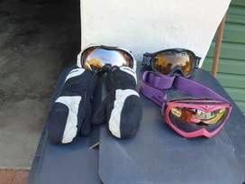 assorted googles n glove collection at wonderboom south pretoria