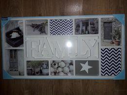 Ramka na zdjęcia rodzinne family home Radom 73x37 cm foto duża do o
