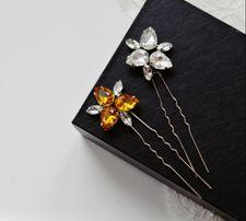 Kokówka ślubna MOA, kryształowa wpinka, ozdoba do włosów