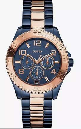 Blue and gold guess watch W0231L6