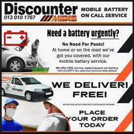 Mobile Battery On-Call Service now available at Discounter Midas!