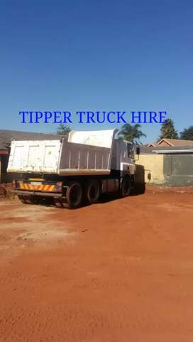 TIPPER TRUCK HIRE  IN  ROODEPOORT  AREAS