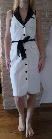 Elegancka czarno-biała sukienka H&M rozm. 38 - nowa! Toruń - image 1