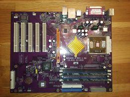 Материнская плата ECS + процессор AMD Sempron + память DDR 512 мбт